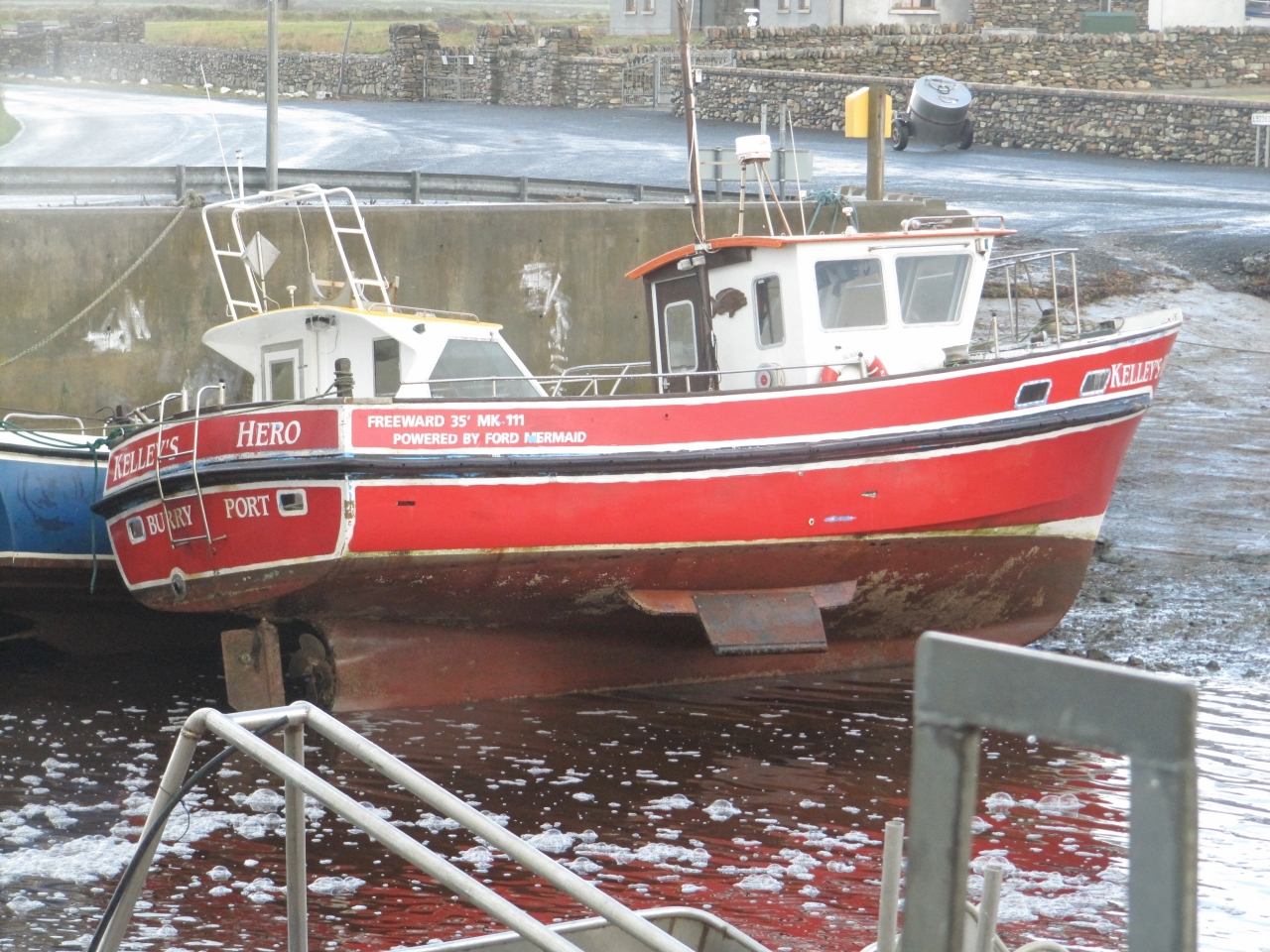 Kelly's Hero waiting for high tide.