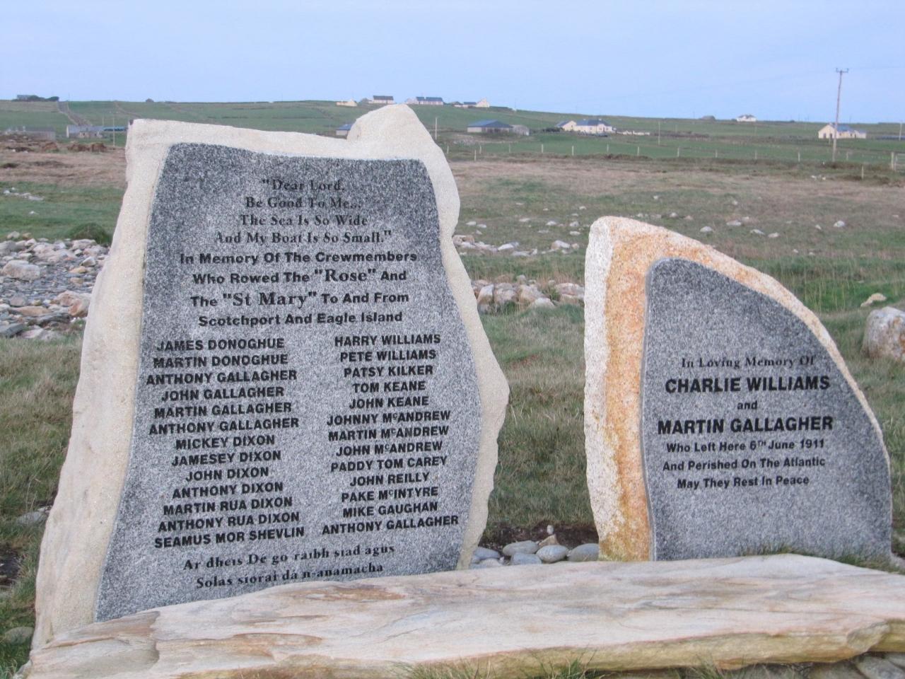 Memorials at Scotch Port
