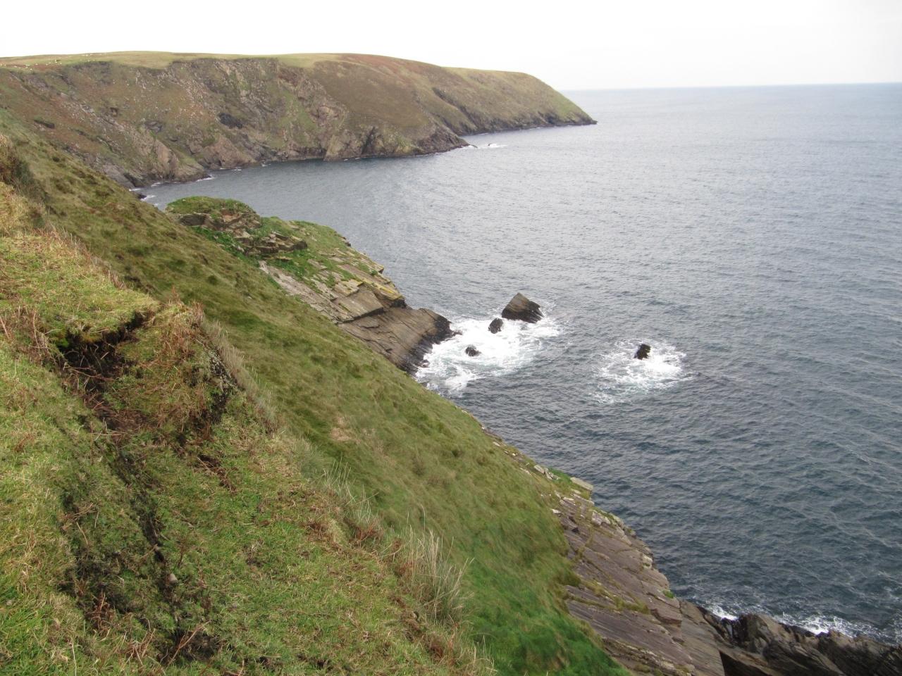 The cliffs off Glenlara.