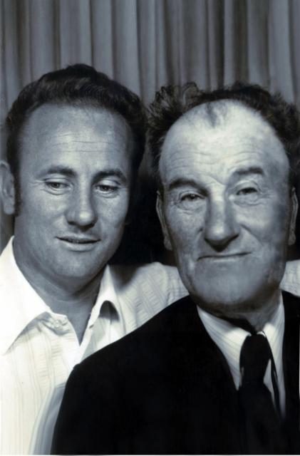 Mike with father, Willie Coyle