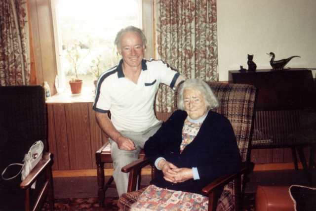 Mike Coyle with his mother, Mary