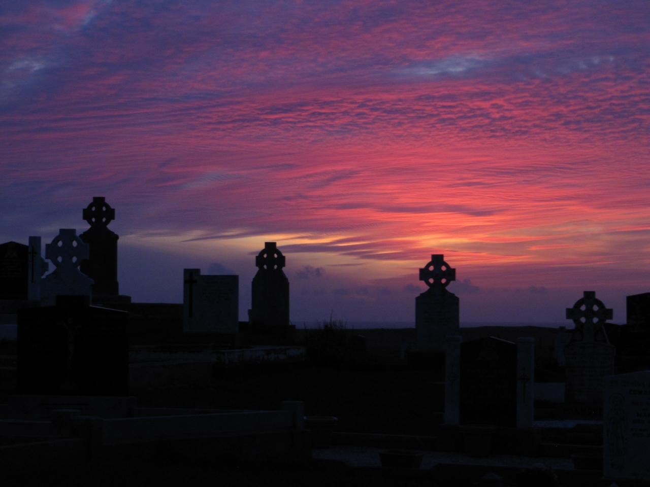 Sunset over Termoncarragh Cemetery