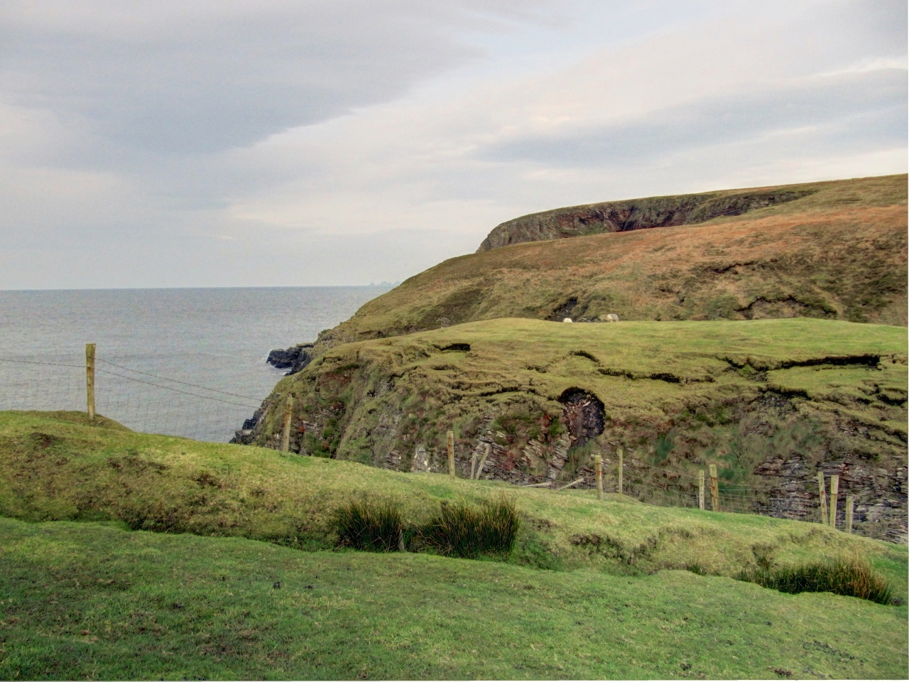 The cliffs off Glenlara.
