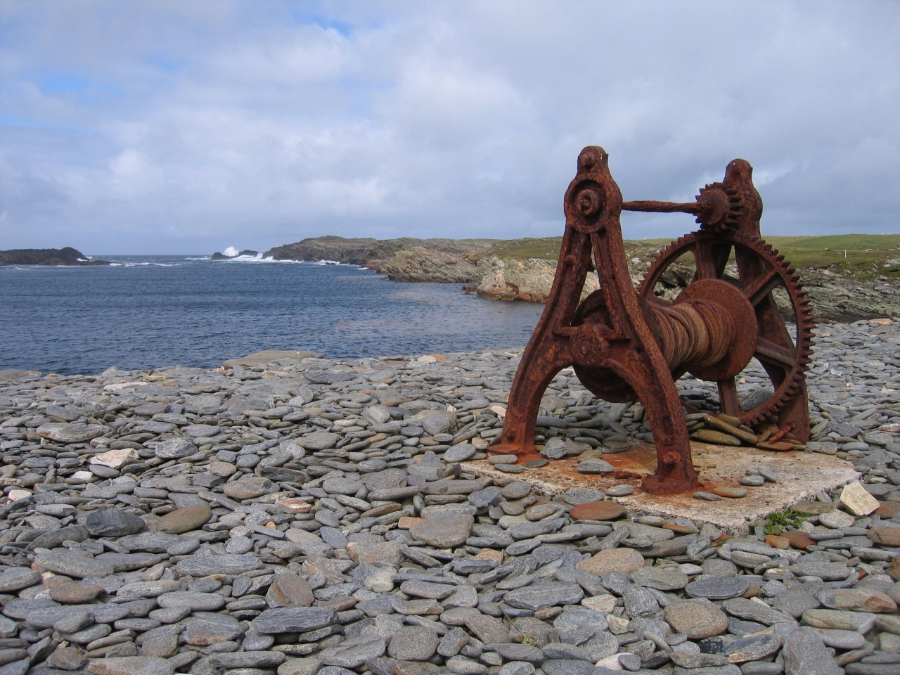 Old Boat Crank at Scotch Port